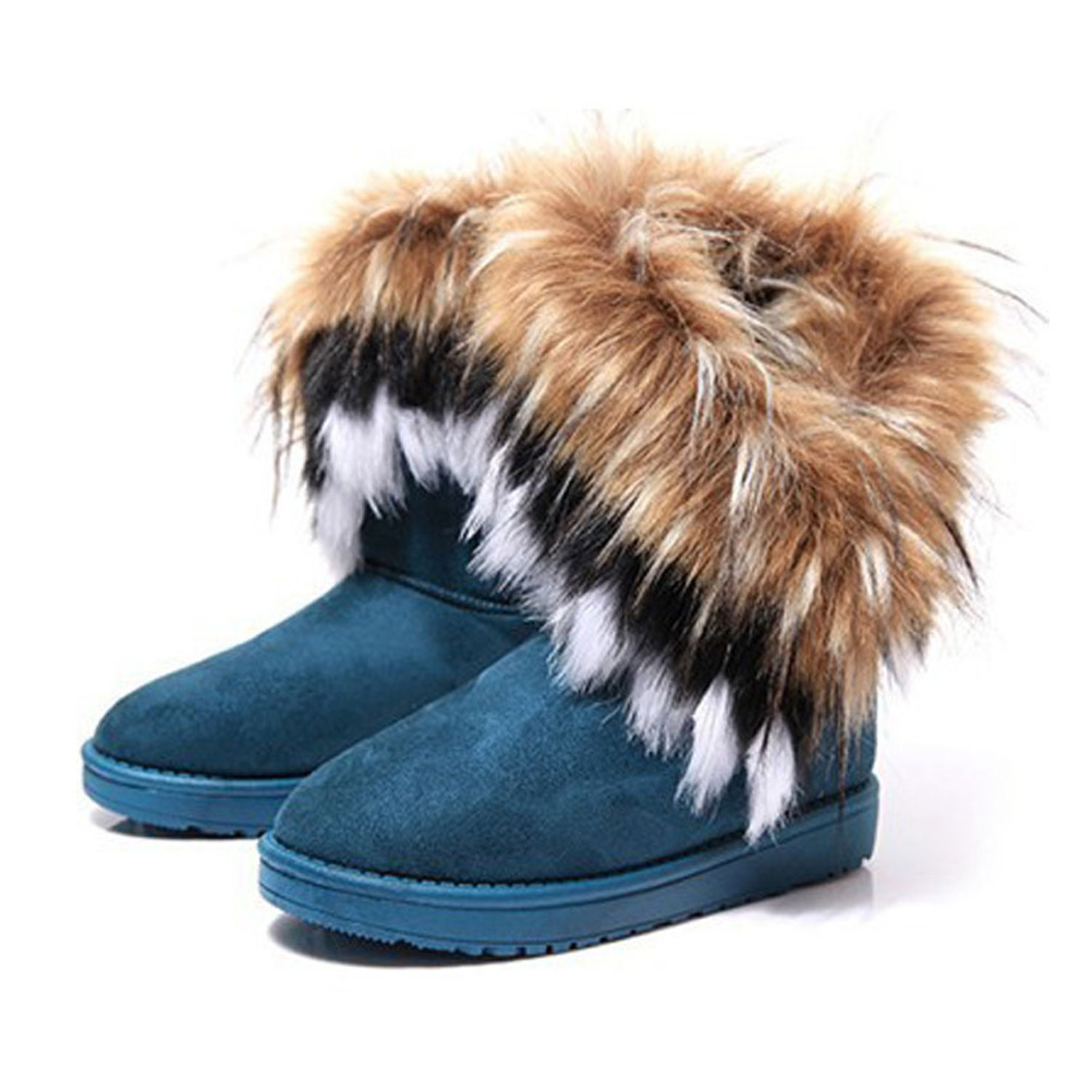 s bohemian winter boots with fur on luulla